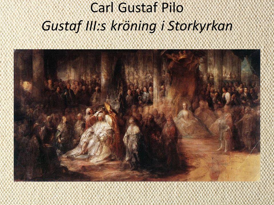 Carl Gustaf Pilo Gustaf III:s kröning i Storkyrkan
