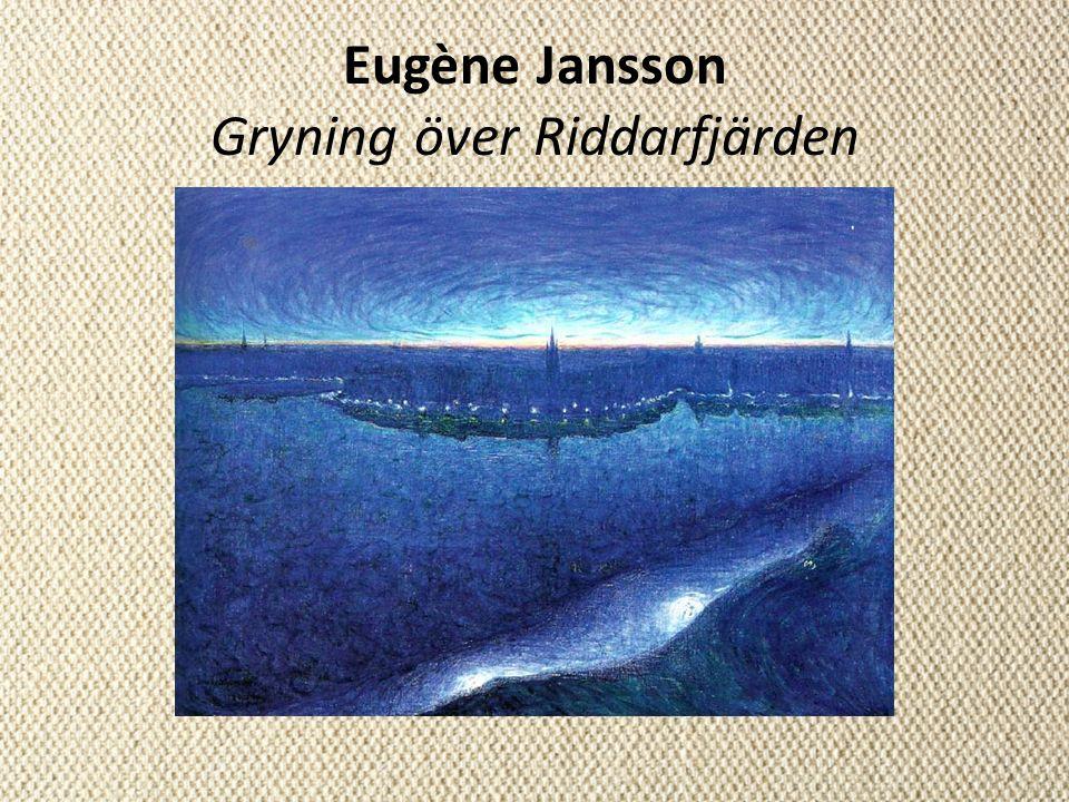 Eugène Jansson Gryning över Riddarfjärden