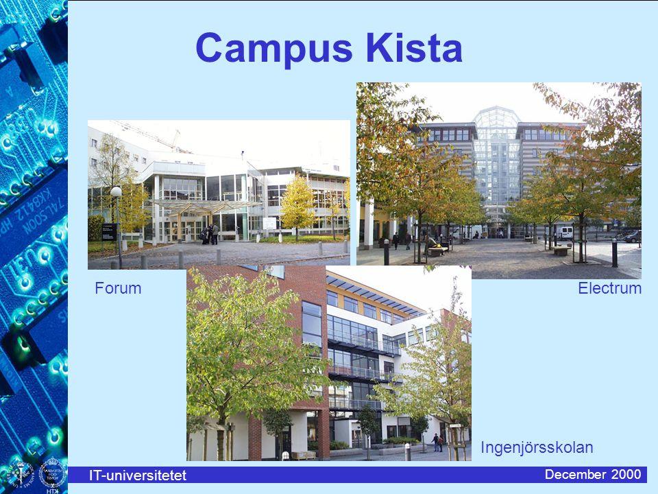IT-universitetet December 2000 Campus Kista ForumElectrum Ingenjörsskolan