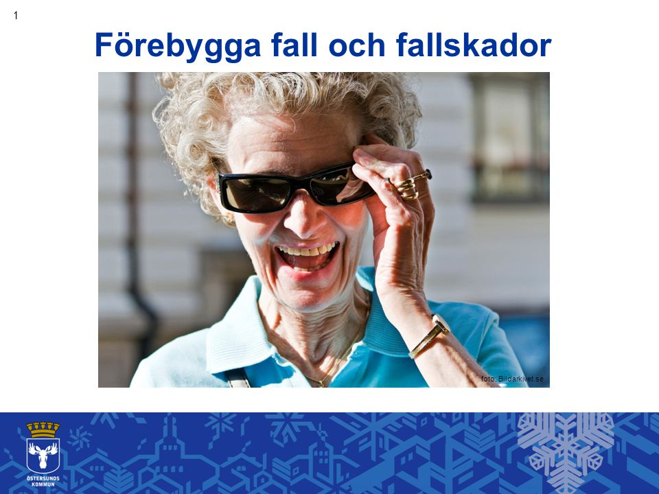 Förebygga fall och fallskador foto: Bildarkivet.se 1