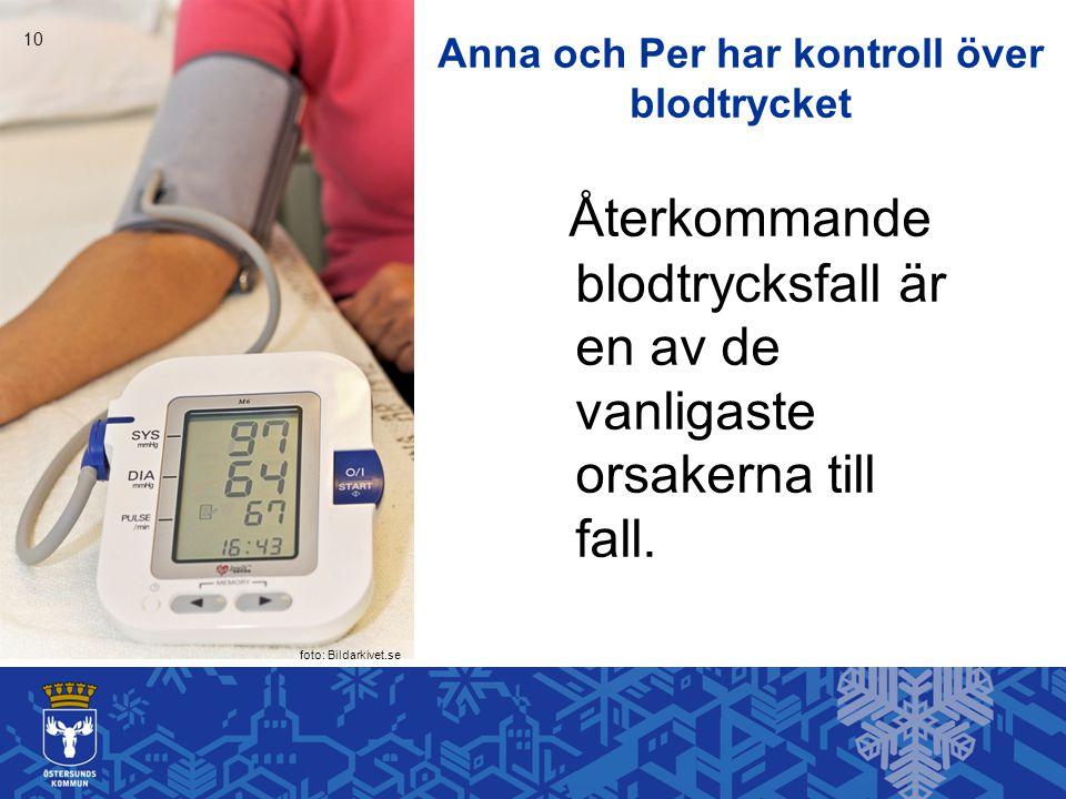 Anna och Per har kontroll över blodtrycket Återkommande blodtrycksfall är en av de vanligaste orsakerna till fall.
