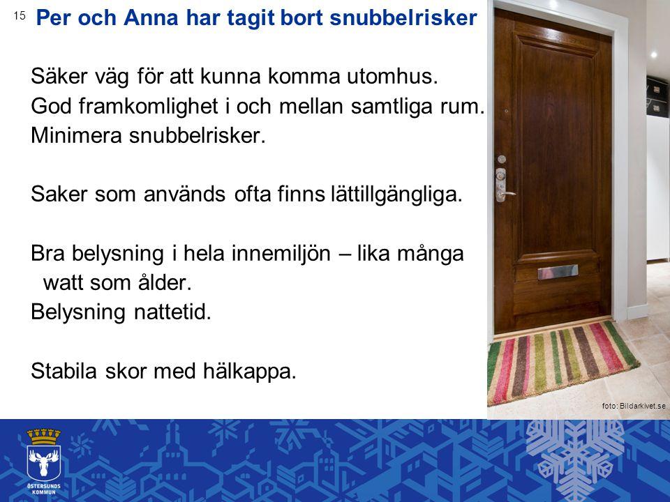 Per och Anna har tagit bort snubbelrisker Säker väg för att kunna komma utomhus.