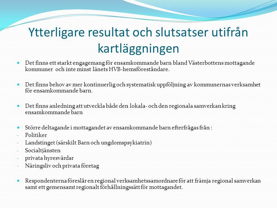 Kartläggning av sfi i Västerbotten Syfte och metod ge en överblick av Västerbottens kommunala verksamheter kring svenskundervisning för invandrare.