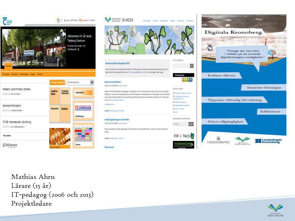 Rapporter Satsningar på IT används inte i skolornas undervisning (Skolinspektionen 2012) Satsningar på IT används inte i skolornas undervisning IT-användning och IT-kompetens i skolan (Skolverket 2013) IT-användning och IT-kompetens i skolan Lägesrapport om it i skolan (Nationellt forum för it i skolan, Jan Hylén) Lägesrapport om it i skolan Arbete med skolutveckling- En potentiell gränszon mellan verksamheter (Omvärldsbloggen, Skolverket) Arbete med skolutveckling- En potentiell gränszon mellan verksamheter Omvärldsbloggen (Stefan Pålsson om IT i skolan, Skolverket) Omvärldsbloggen IT i undervisningen-Om lärares syften, användande och hinder (Lärarnas riksförbund 2013) IT i undervisningen-Om lärares syften, användande och hinder Nytt forum ska öka användningen av it i skolan (SKL) Nytt forum ska öka användningen av it i skolan IT och digital kompetens i skolan (Kairos Future 2011) IT och digital kompetens i skolan
