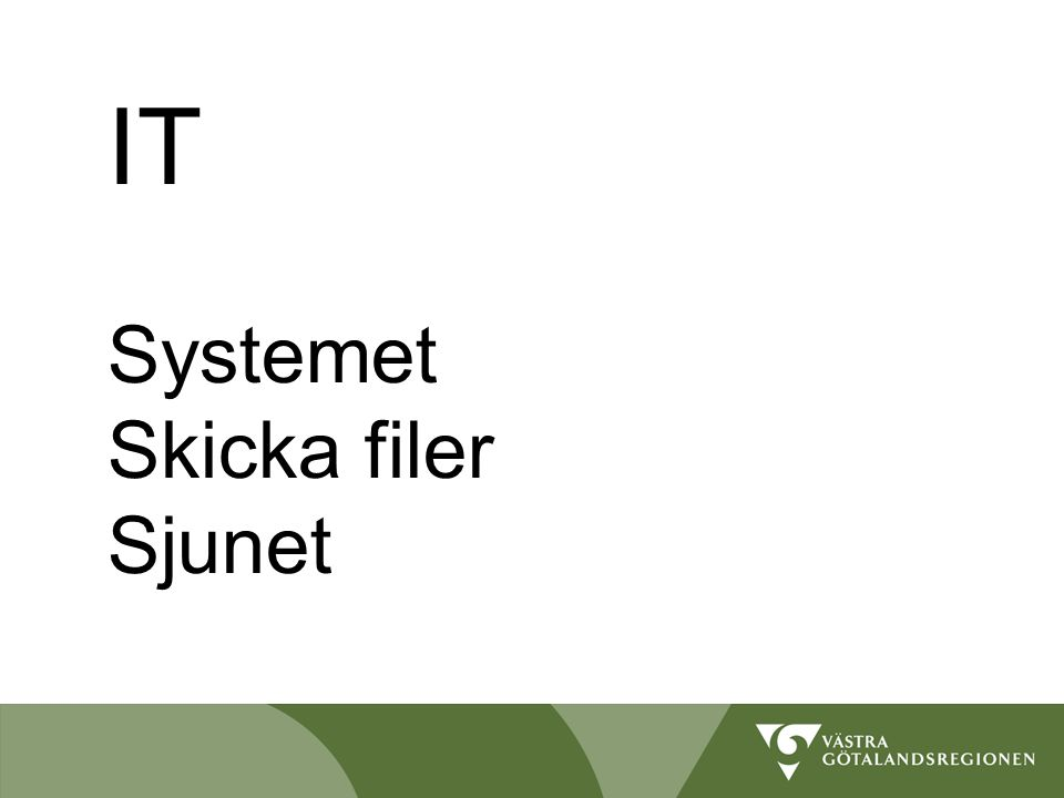 IT Systemet Skicka filer Sjunet