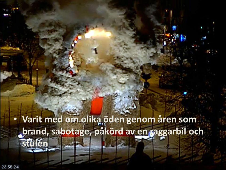 Varit med om olika öden genom åren som brand, sabotage, påkörd av en raggarbil och stulen Varit med om olika öden genom åren som brand, sabotage, påkörd av en raggarbil och stulen