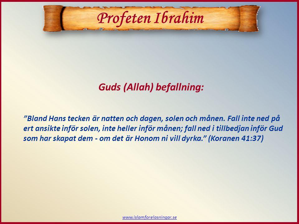 www.islamforelasningar.se Bland Hans tecken är natten och dagen, solen och månen.