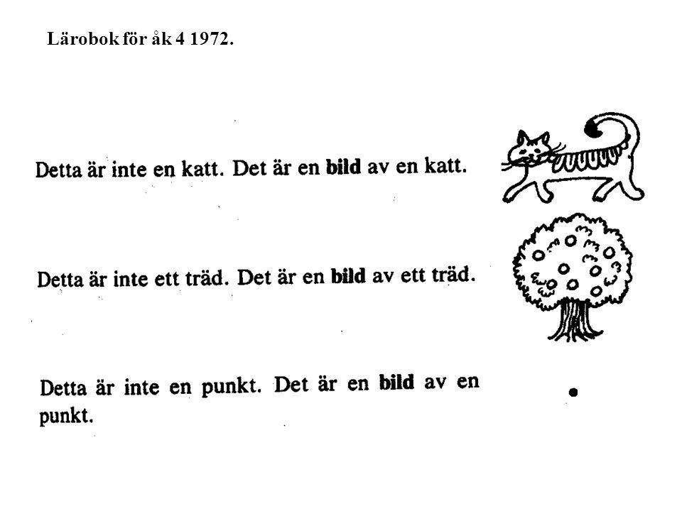 Lärobok för åk 4 1972.