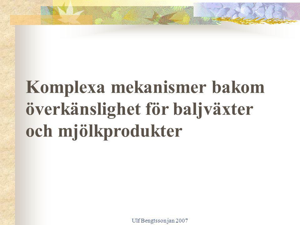 Ulf Bengtsson jan 2007 Komplexa mekanismer bakom överkänslighet för baljväxter och mjölkprodukter