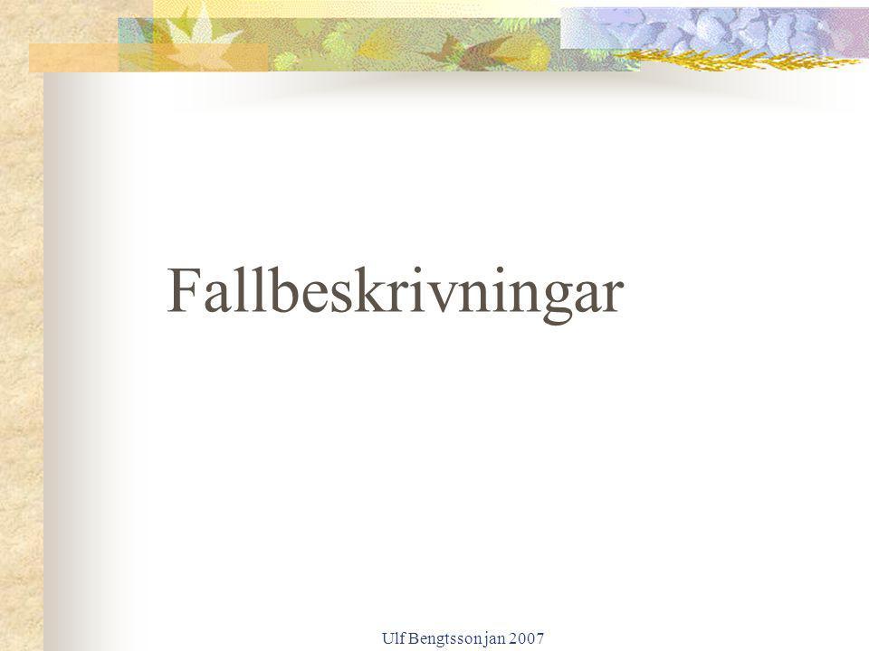 Ulf Bengtsson jan 2007 Fallbeskrivningar