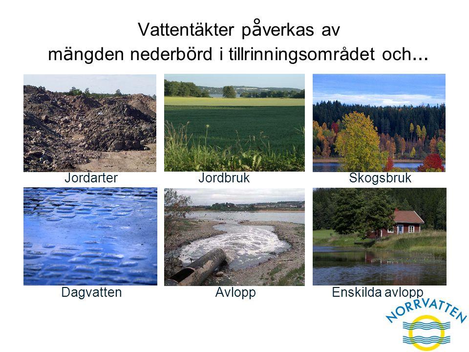 Enskilda avlopp Jordbruk Avlopp Vattentäkter p å verkas av m ä ngden nederb ö rd i tillrinningsområdet och … Dagvatten JordarterSkogsbruk Enskilda avl