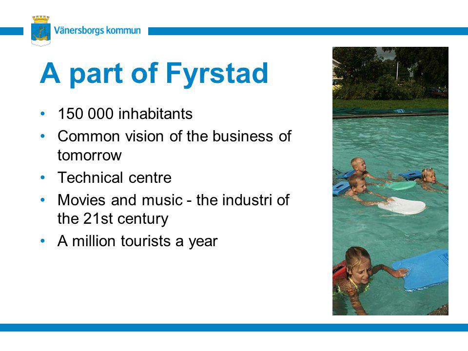 A part of Fyrstad 150 000 inhabitants Common vision of the business of tomorrow Technical centre Movies and music - the industri of the 21st century A