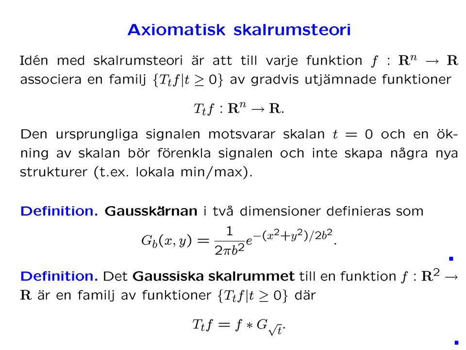 Generella fallet Eftersom C är symmetrisk, kan man diagonalisera Alltså, generalla fallet är en roterad version av det enkla fallet.
