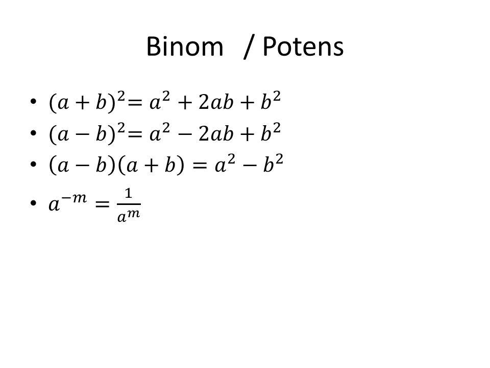 Binom/ Potens