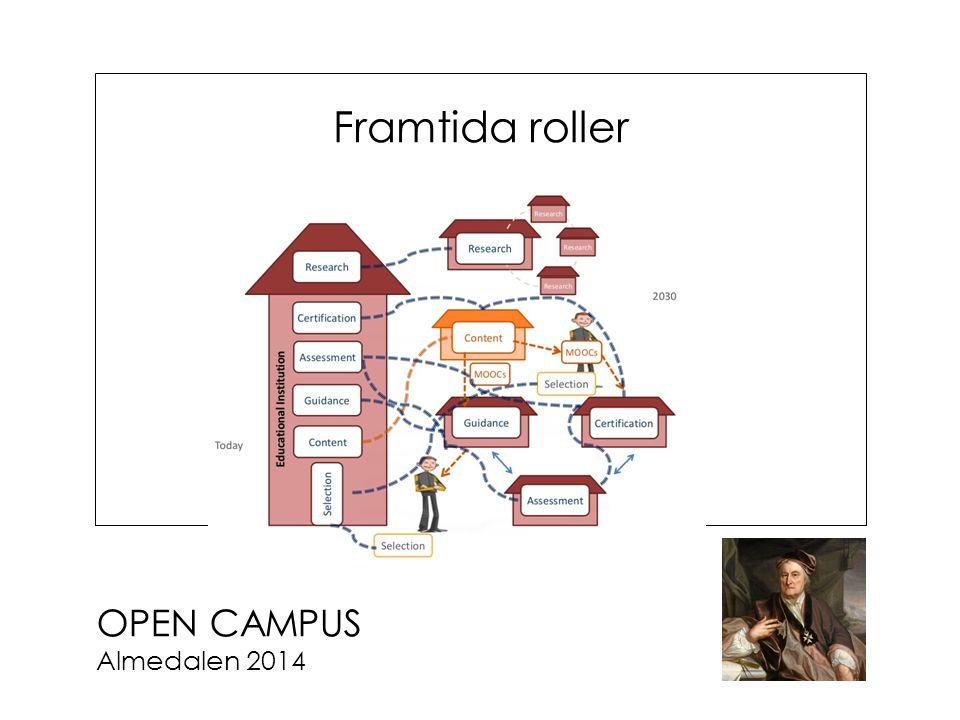 OPEN CAMPUS Almedalen 2014 Framtida roller
