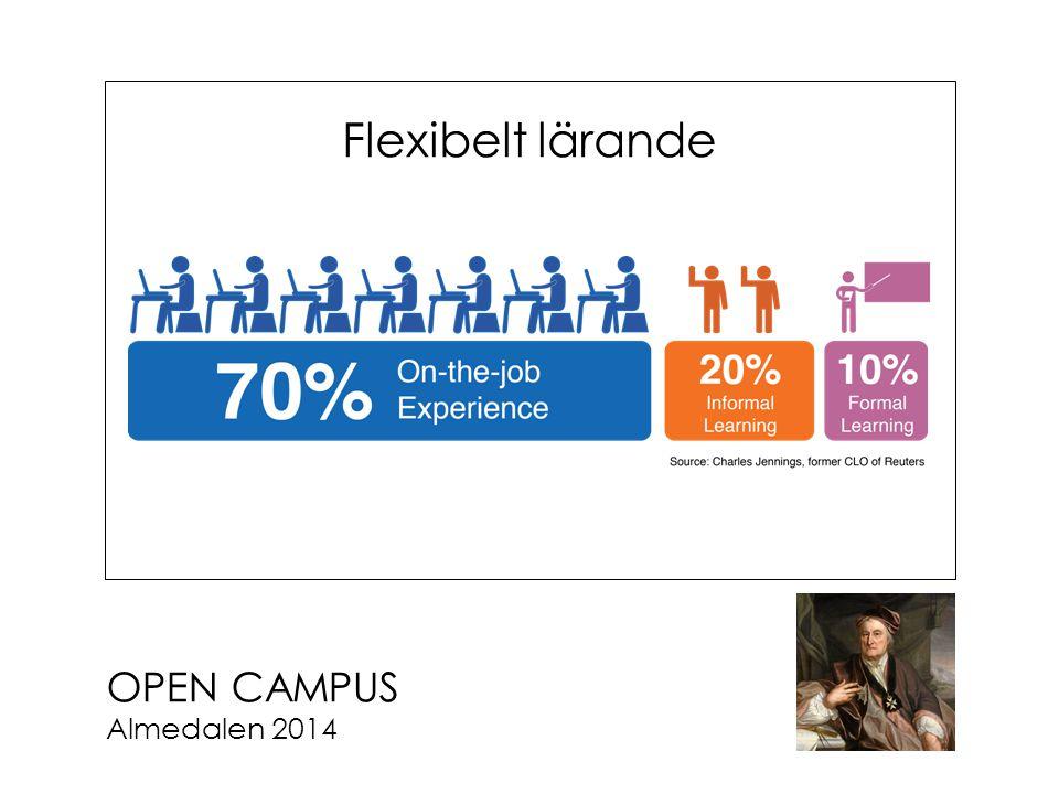 OPEN CAMPUS Almedalen 2014 Flexibelt lärande