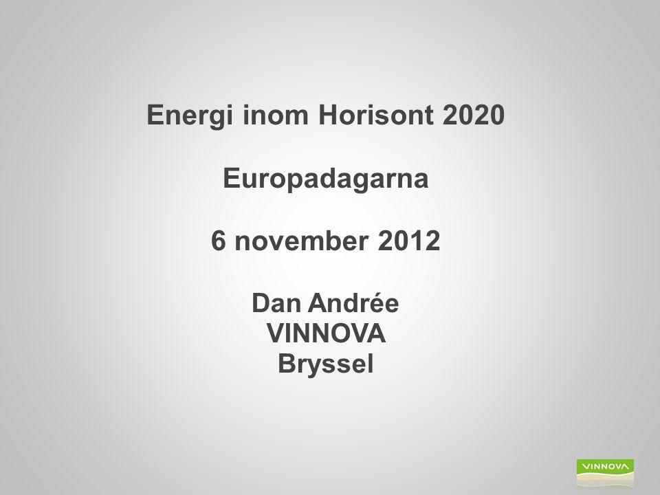 Presentation  Hur går det i FP7  EU 2020  Introduktion till Horisont 2020  Energi inom Horisont 2020 Bild 2