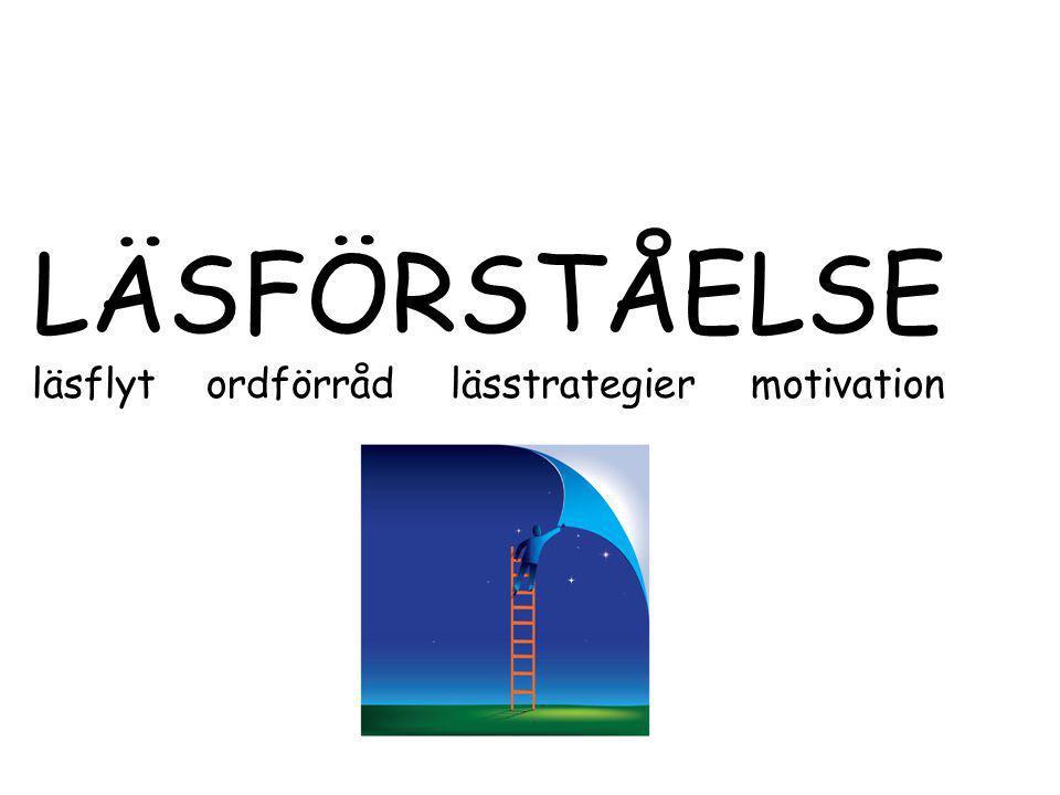 LÄSFÖRSTÅELSE läsflyt ordförråd lässtrategier motivation