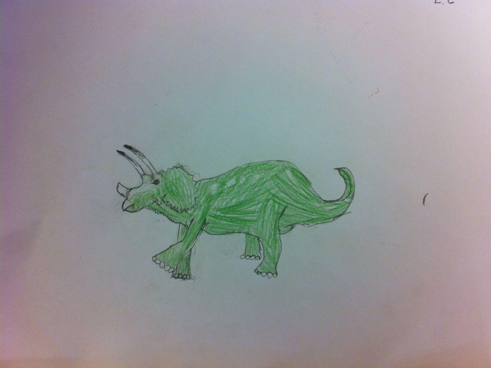 Tyrannosaurus Rex Det var en av det största dinosaurien.