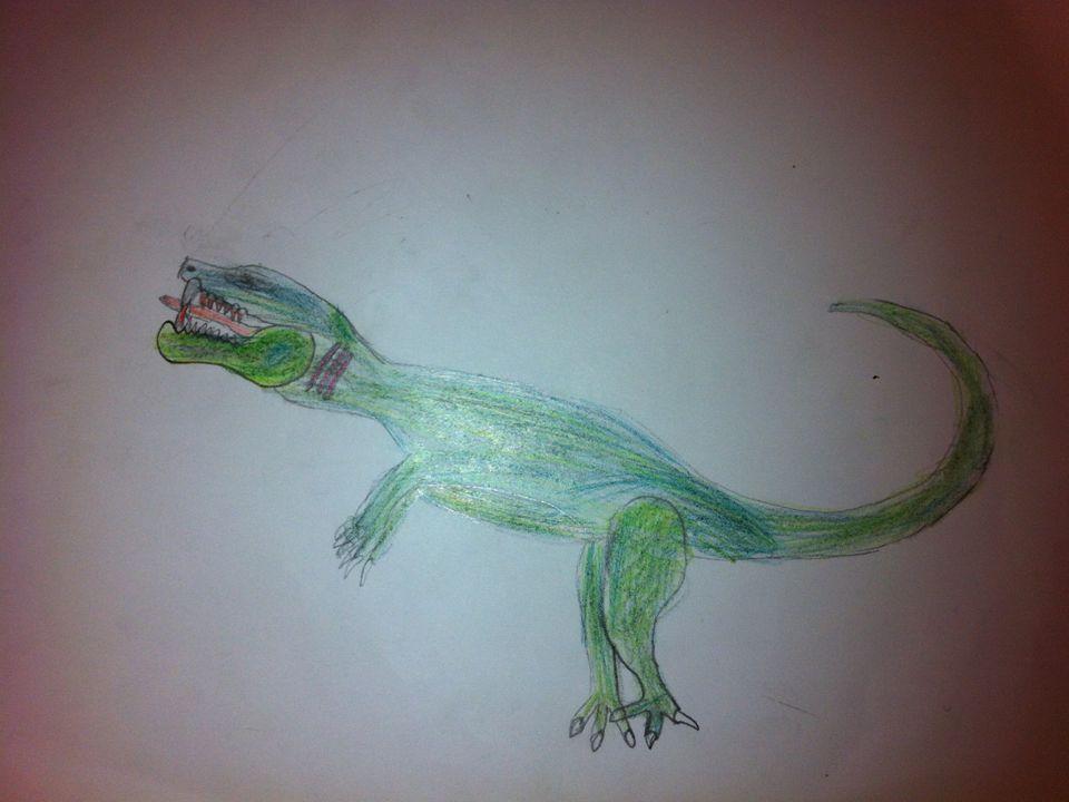 Allosaurusen Allosaurusen är 11 m lång höjd 5 m.Vikt 1400 3000 kg Allosaurusarna jagar i flock.
