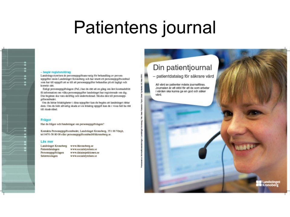 Gemensam elektronisk journal En patient en journal.