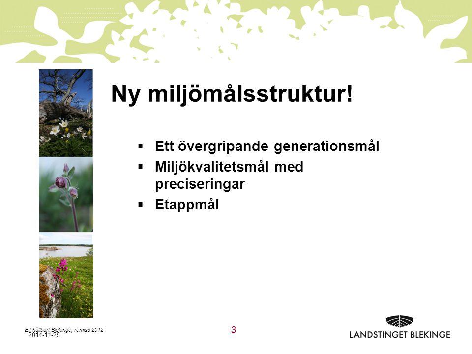 2014-11-25 Ny miljömålsstruktur.