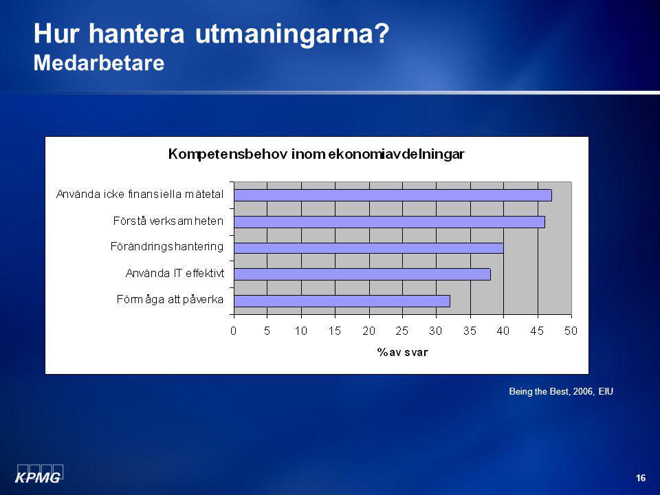 16 Hur hantera utmaningarna? Medarbetare Being the Best, 2006, EIU