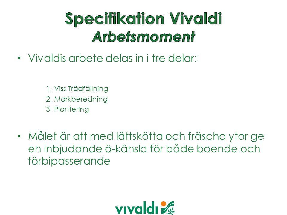 Vivaldis arbete delas in i tre delar: 1.Viss Trädfällning 2.