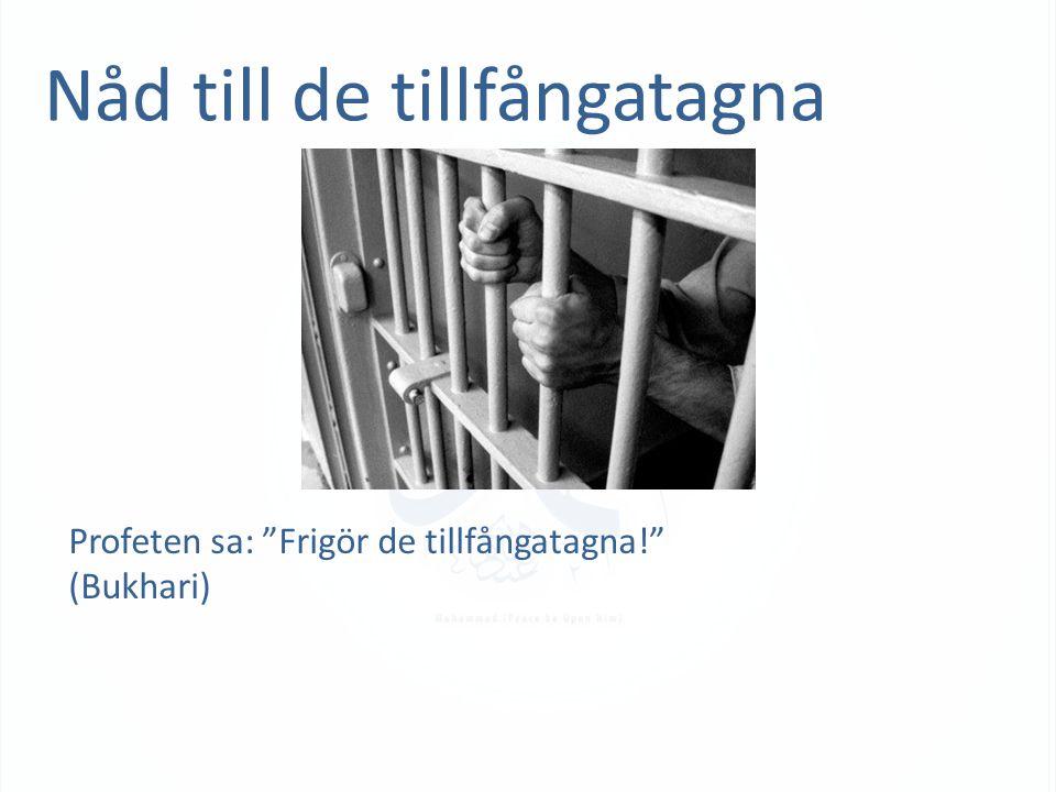 """Nåd till de tillfångatagna Profeten sa: """"Frigör de tillfångatagna!"""" (Bukhari)"""