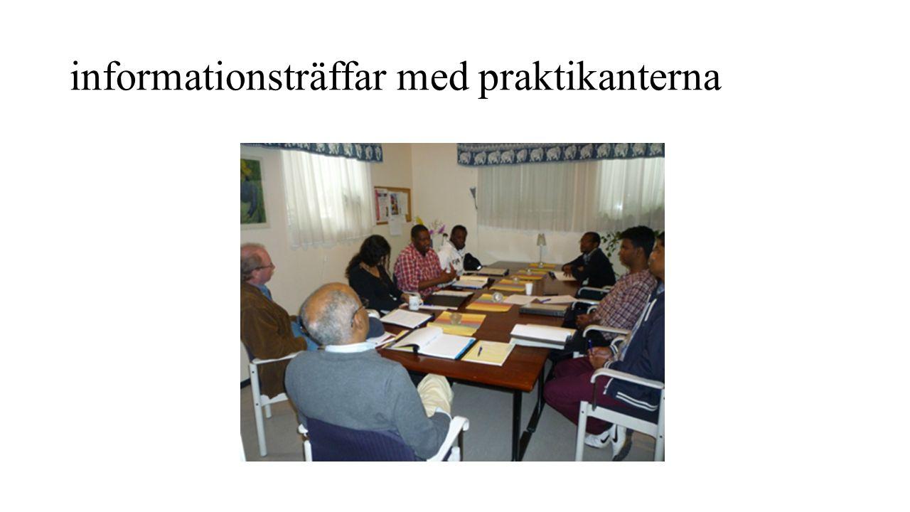informationsträffar med praktikanterna