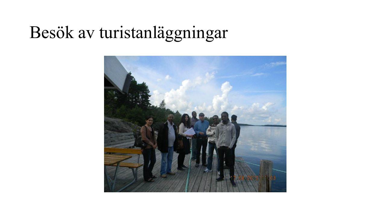 Besök av turistanläggningar