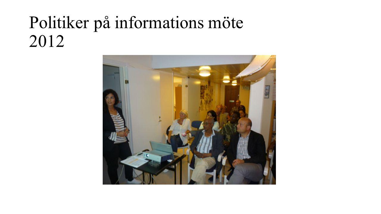 Politiker på informations möte 2012