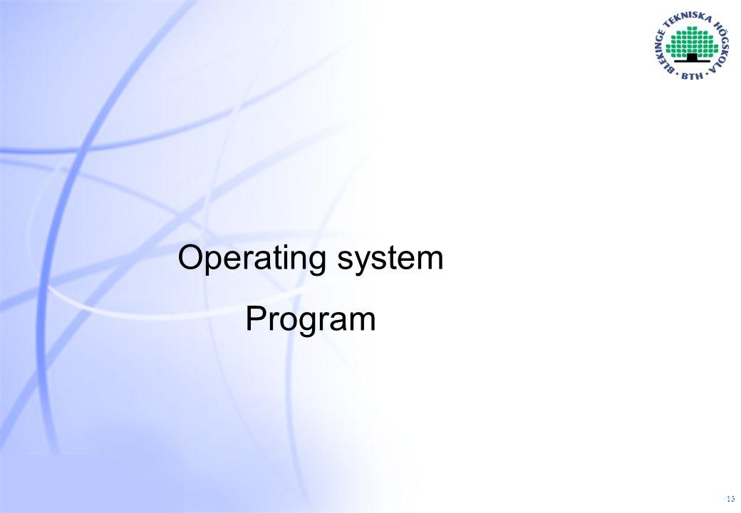 13 Operating system Program