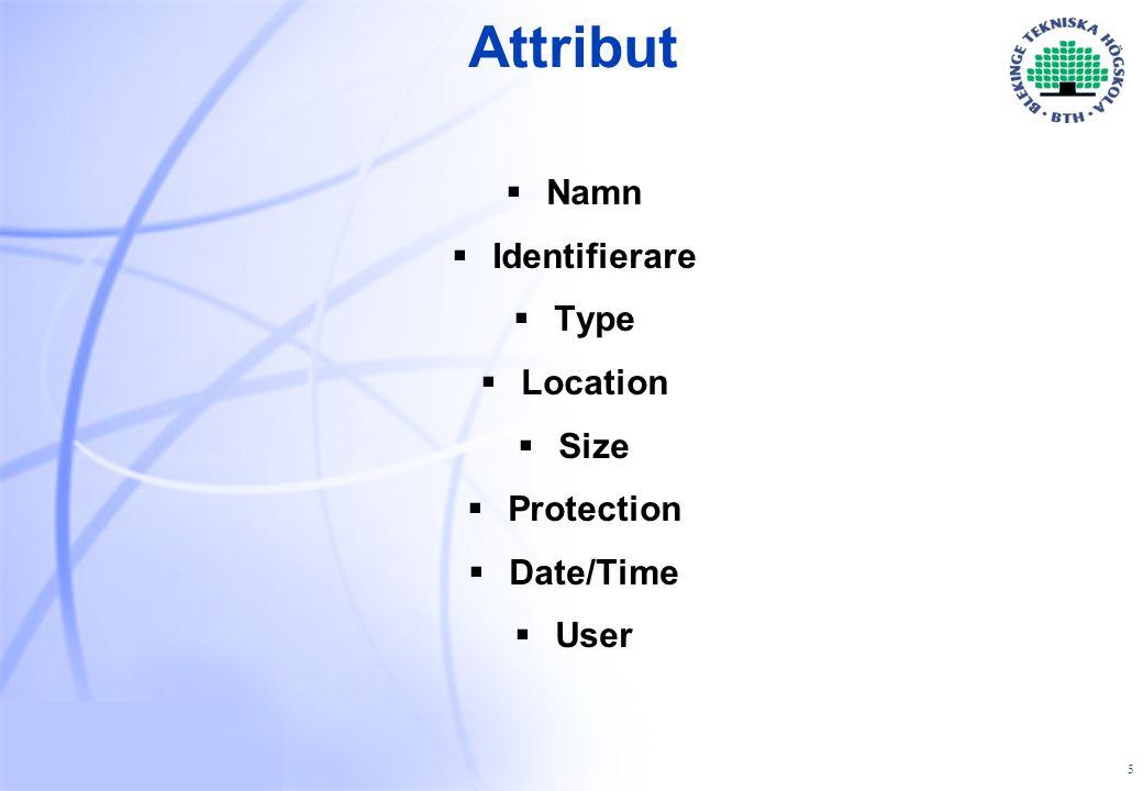 26 Exempel på i-nod med flera nivåer DATAblock