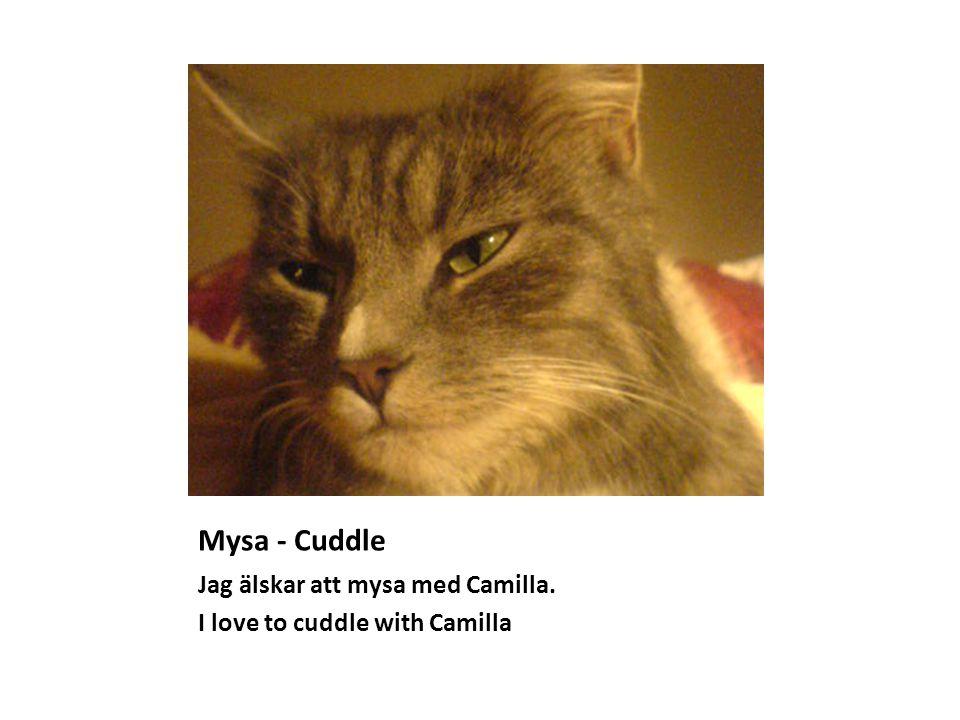 Mysa - Cuddle Jag älskar att mysa med Camilla. I love to cuddle with Camilla