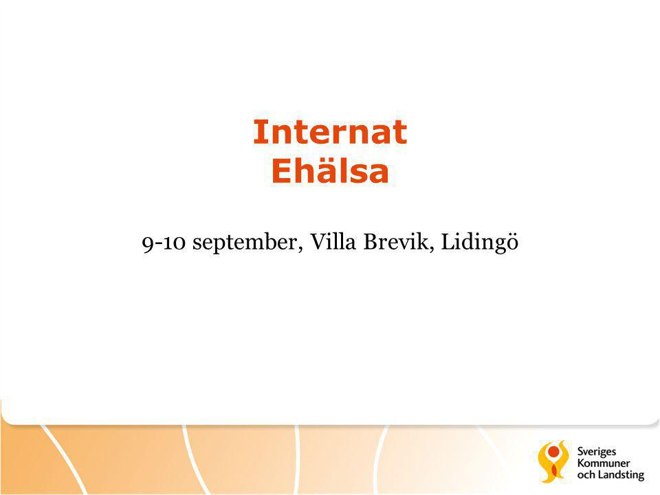 Internat Ehälsa 9-10 september, Villa Brevik, Lidingö