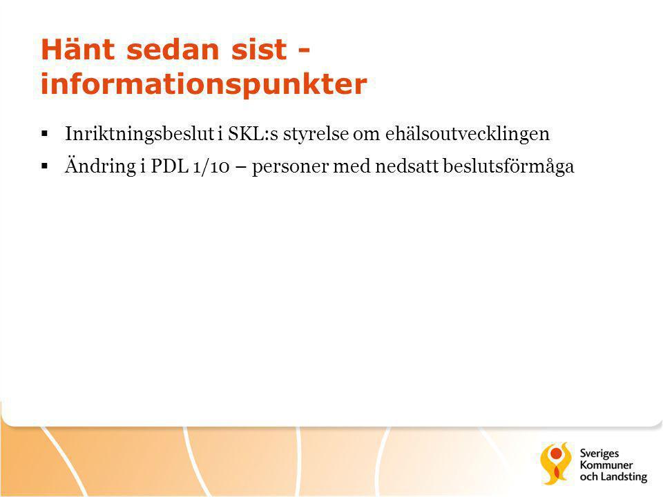 Beslut i SKL:s styrelse  Styrelsen beslutade 13 juni 2014 att - rekommendera landsting/regioner att ta ställning till att påbörja ett arbete för att gemensamt med SKL genomföra en översyn av Ineras tjänsteportfölj, utforma ett avtalsförslag kring framtida finansiering och användning av densamma samt ett överlåtelseavtal av Inera AB till SKL Företag AB - uppdra åt kansliet att utarbeta principer och riktlinjer för styrning, finansiering, förankring och kriterier för urval av gemensamma digitala lösningar för kommuner och landsting