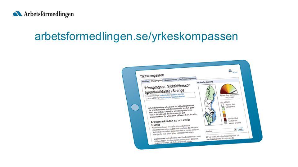 arbetsformedlingen.se/yrkeskompassen