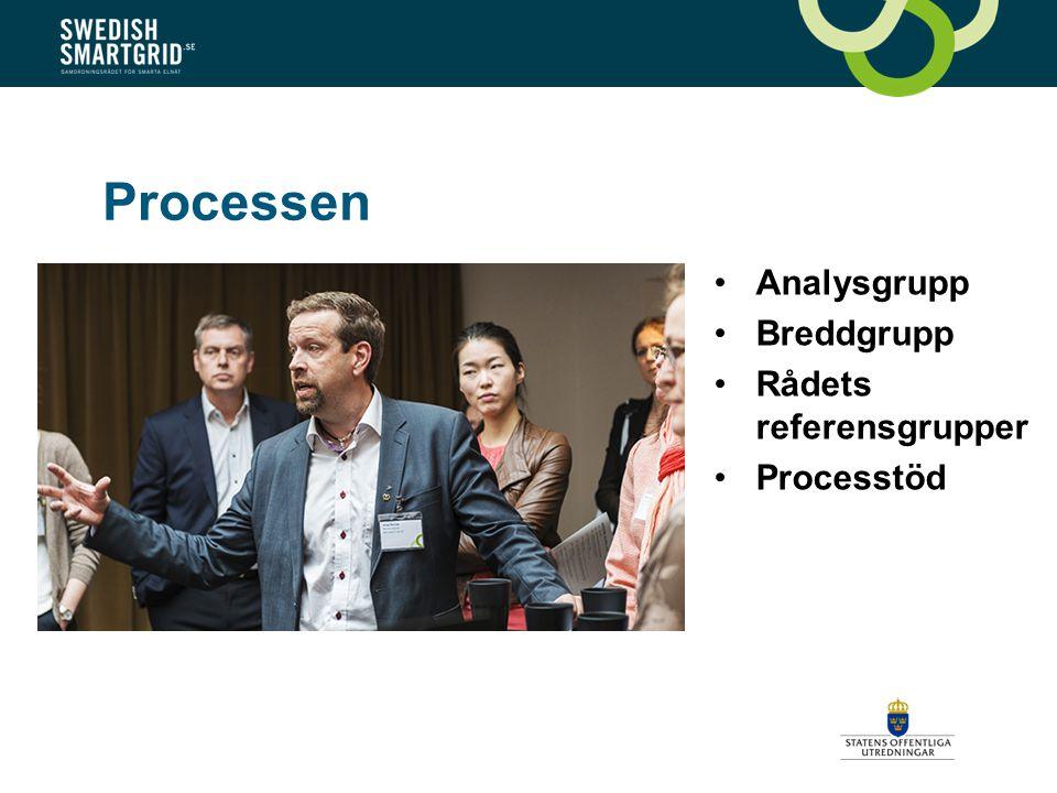 Processen Analysgrupp Breddgrupp Rådets referensgrupper Processtöd