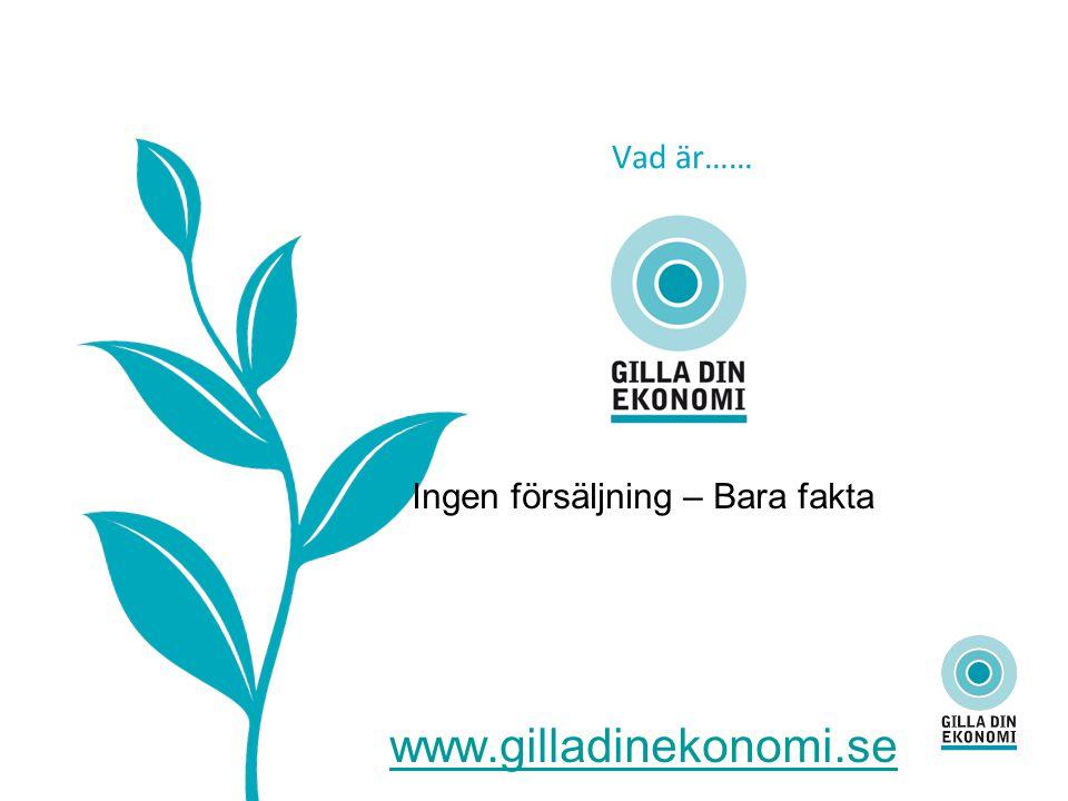 Vad är…… Ingen försäljning – Bara fakta www.gilladinekonomi.se