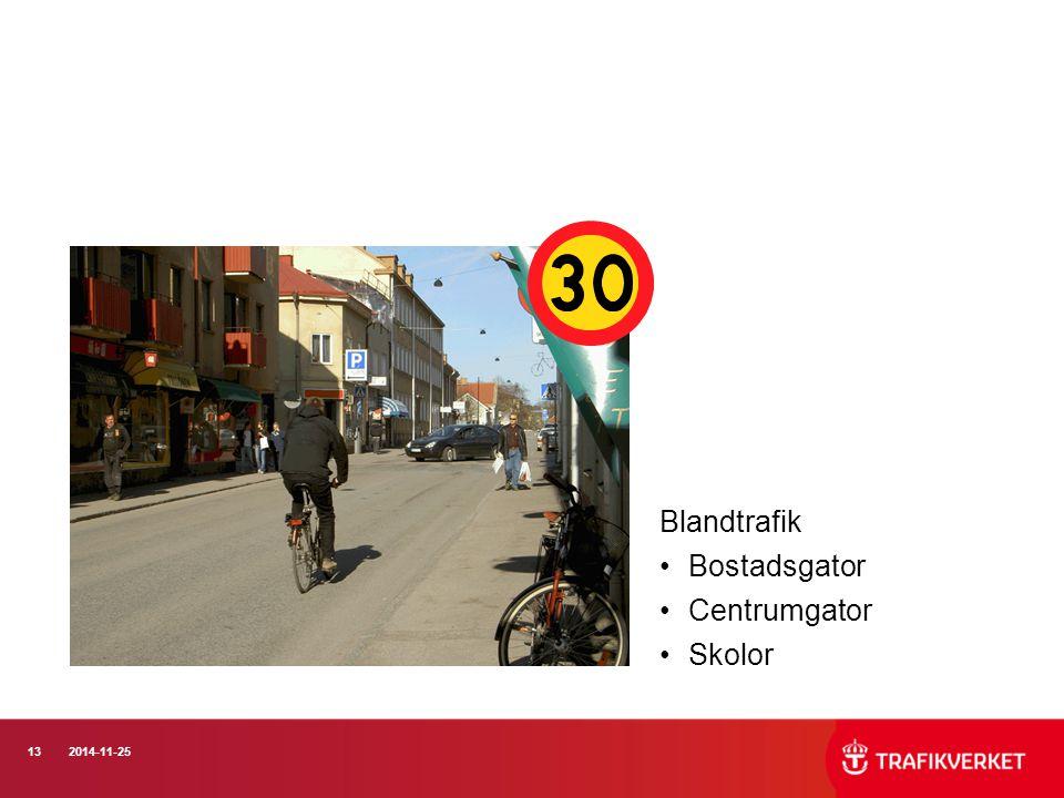 132014-11-25 Blandtrafik Bostadsgator Centrumgator Skolor