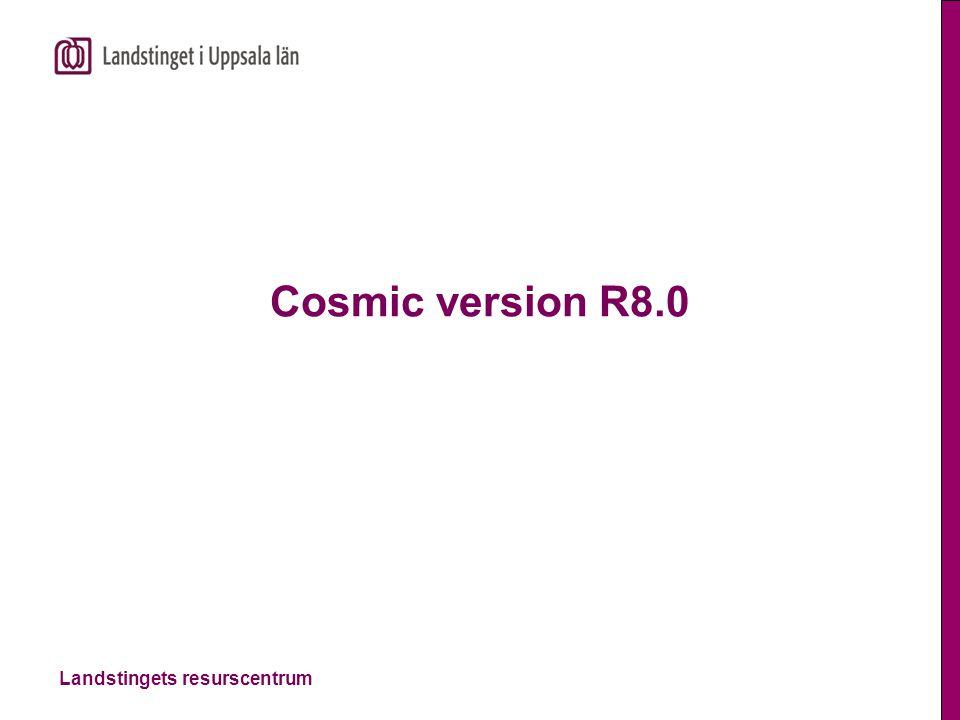 Landstingets resurscentrum Cosmic version R8.0