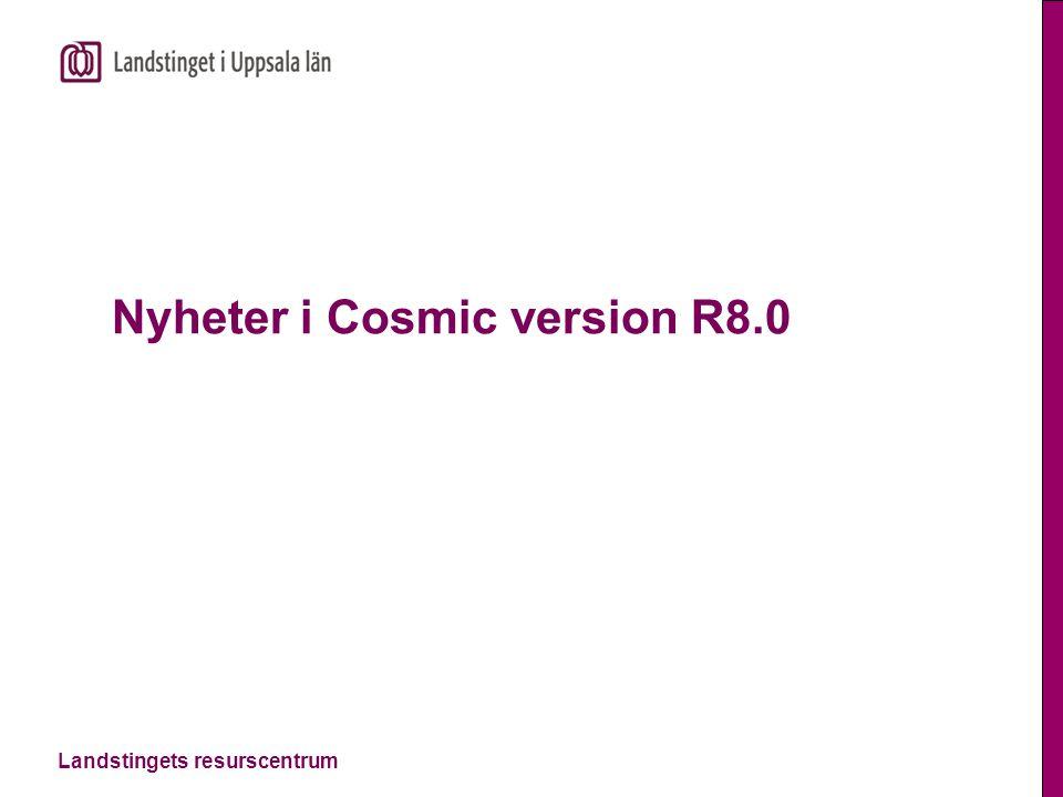 Landstingets resurscentrum Nyheter i Cosmic version R8.0