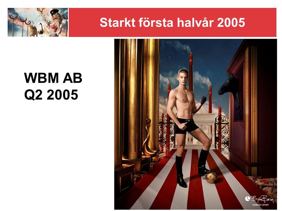 Starkt första halvår 2005 WBM AB Q2 2005