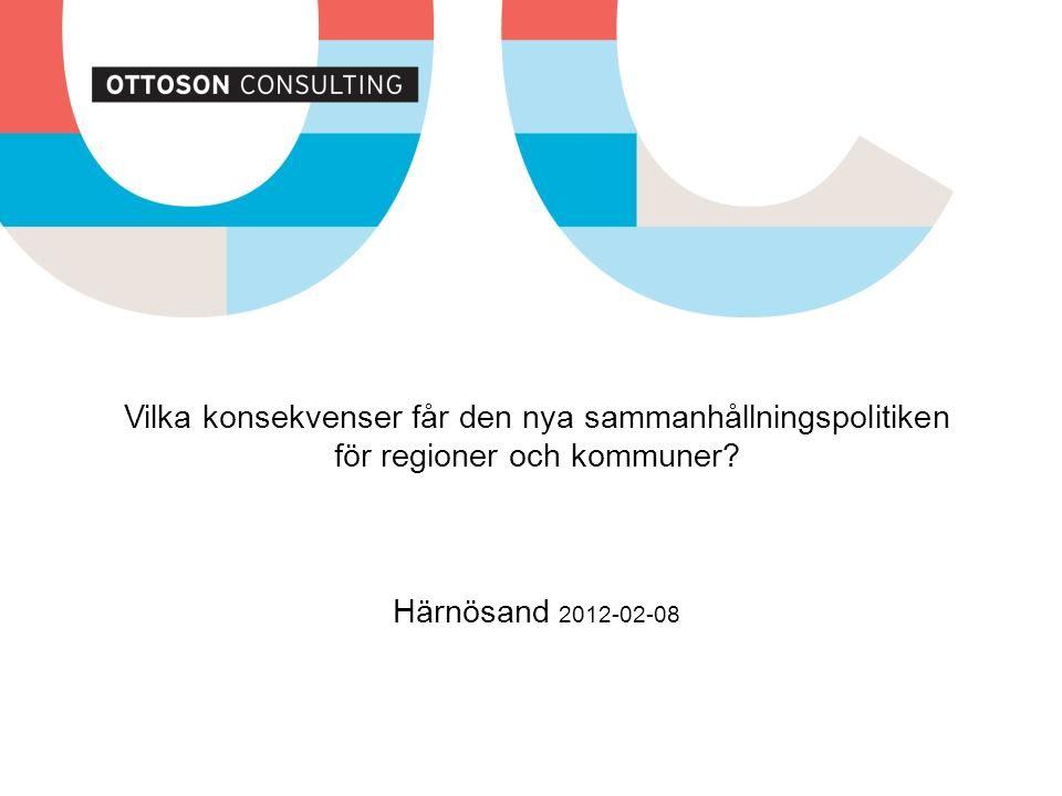 Vilka konsekvenser får den nya sammanhållningspolitiken för regioner och kommuner.