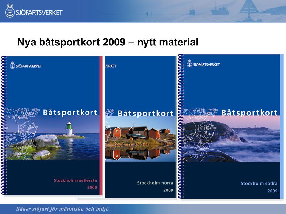 Nya båtsportkort 2009 – nytt material