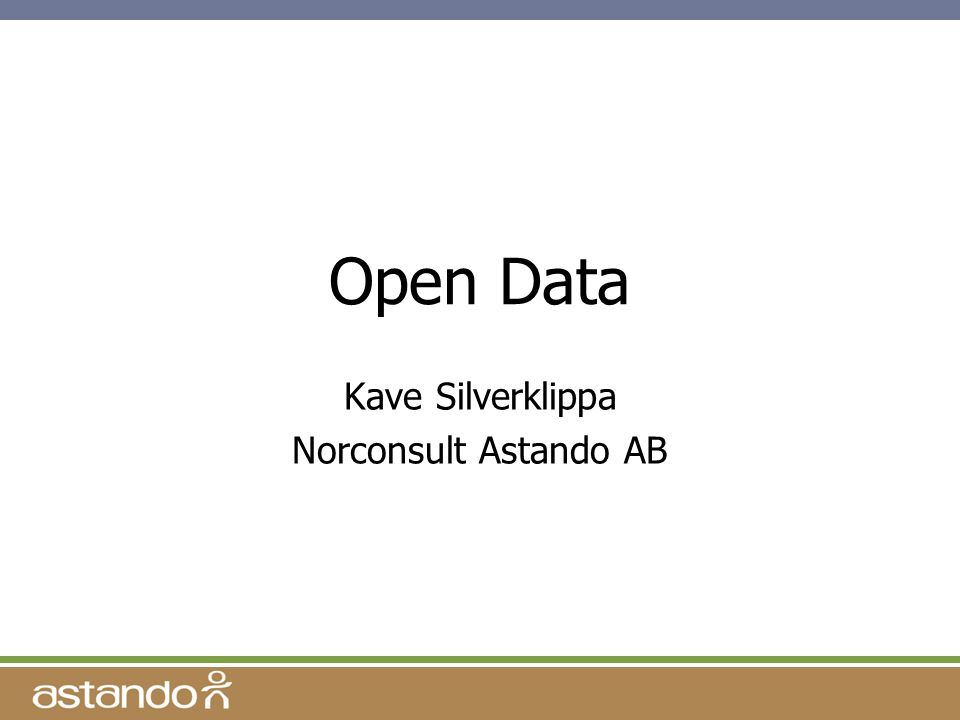 Open Data Kave Silverklippa Norconsult Astando AB