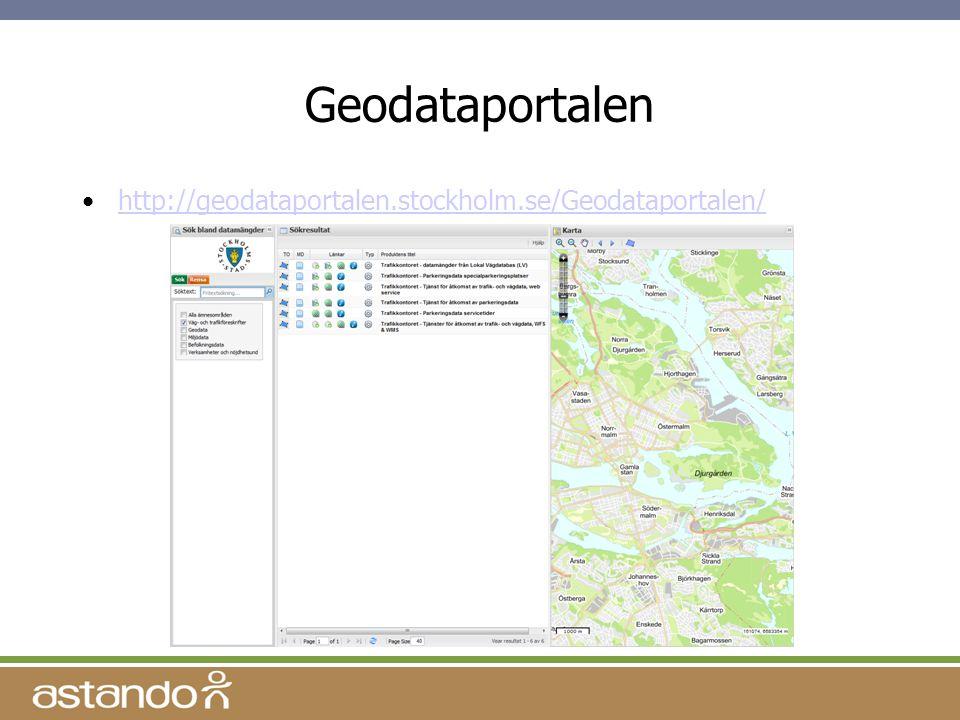 Geodataportalen http://geodataportalen.stockholm.se/Geodataportalen/