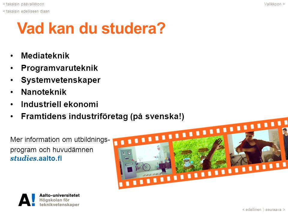 Vad kan du studera.