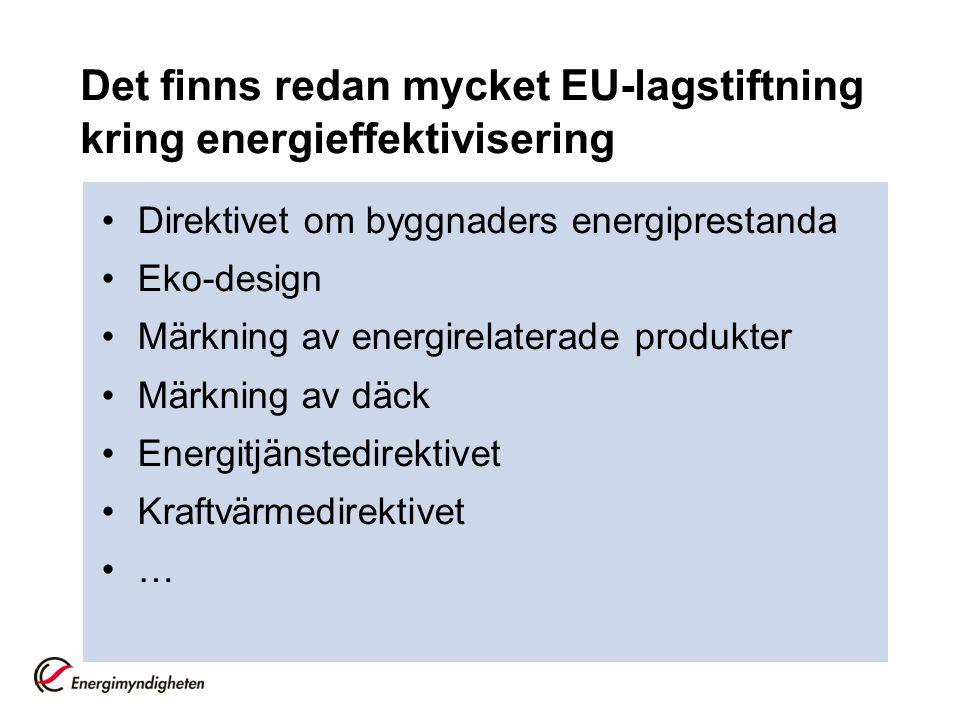 Varför behövs ett nytt energieffektiviseringsdirektiv?